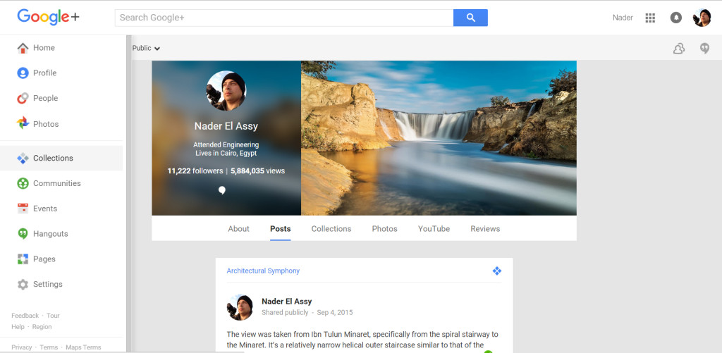 Main Profile Page