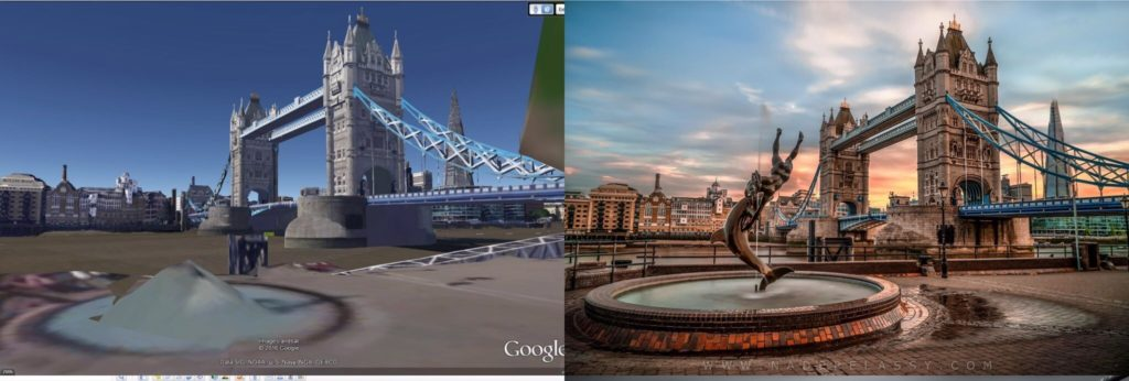 Tower Bridge and Fountain